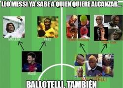 Enlace a Leo Messi ya sabe a quien quiere alcanzar