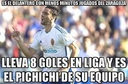 Enlace a Es el delantero con menos minutos jugados del Zaragoza