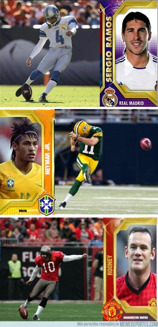 69255 - Ramos, Neymar y Rooney, talento puro NFL
