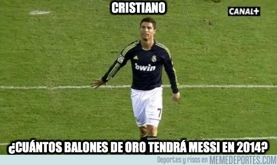 71516 - Cristiano, ¿cuántos balones de oro tendrá Messi en 2014?