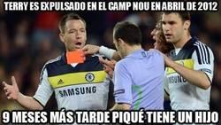 Enlace a Terry es expulsado en el Camp Nou en abril de 2012