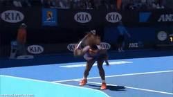 Enlace a GIF: Cabreo de Serena Williams en el Open de Australia