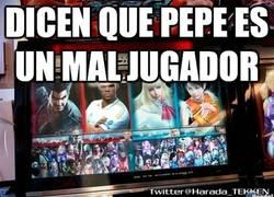 Enlace a Dicen que Pepe es un mal jugador