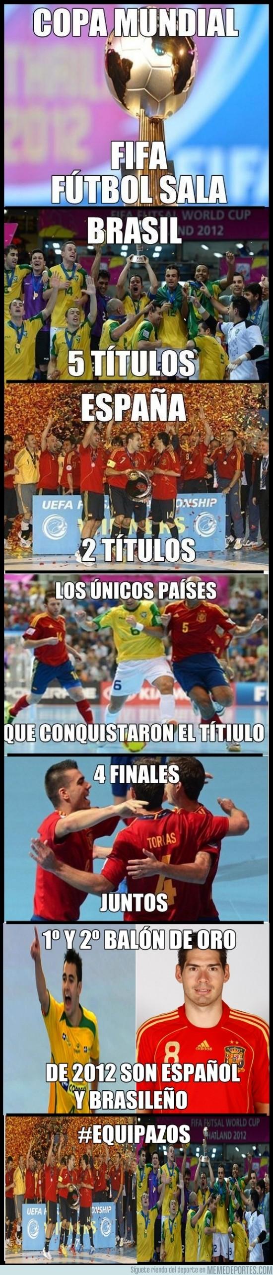 73855 - Brasil y España en fútbol sala