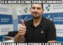 Enlace a Es el mejor en la final España vs Dinamarca