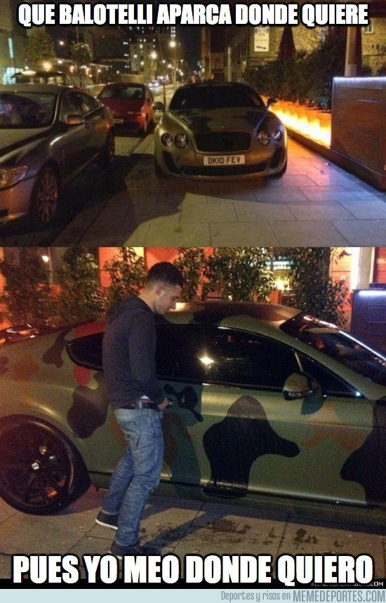 75360 - Que Balotelli aparca donde quiere