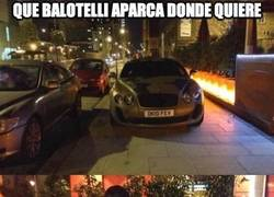 Enlace a Que Balotelli aparca donde quiere