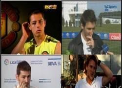 Enlace a 1ª Ley de un futbolista: Sentir picores en medio de una entrevista