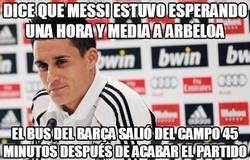 Enlace a Dice que Messi estuvo esperando una hora y media a Arbeloa