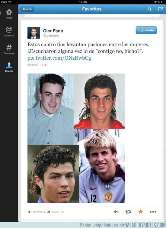 77508 - El pasado oscuro de Alonso, Piqué, Cesc y CR7 por @oierfano