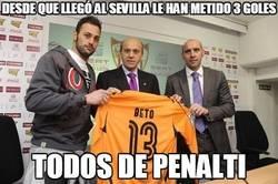 Enlace a Desde que llegó al Sevilla le han metido 3 goles