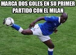 Enlace a Marca dos goles en su primer partido con el Milan