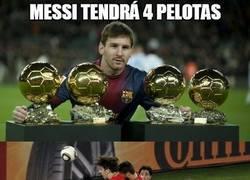 Enlace a Messi tendrá 4 pelotas