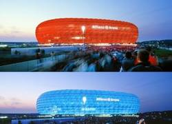 Enlace a Allianz Arena, el impresionante estadio que cambia de color