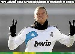 Enlace a Pepe llegará para el partido contra el manchester united