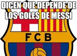 Enlace a Dicen que depende de los goles de Messi