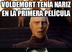 Enlace a Voldemort tenía nariz en la primera película