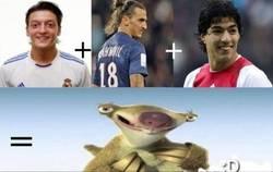 Enlace a Ozil + Ibrahimovich + Suarez