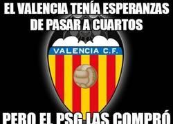 Enlace a El Valencia tenía esperanzas de pasar a cuartos