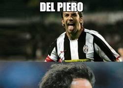 Enlace a Del Piero y su lengua