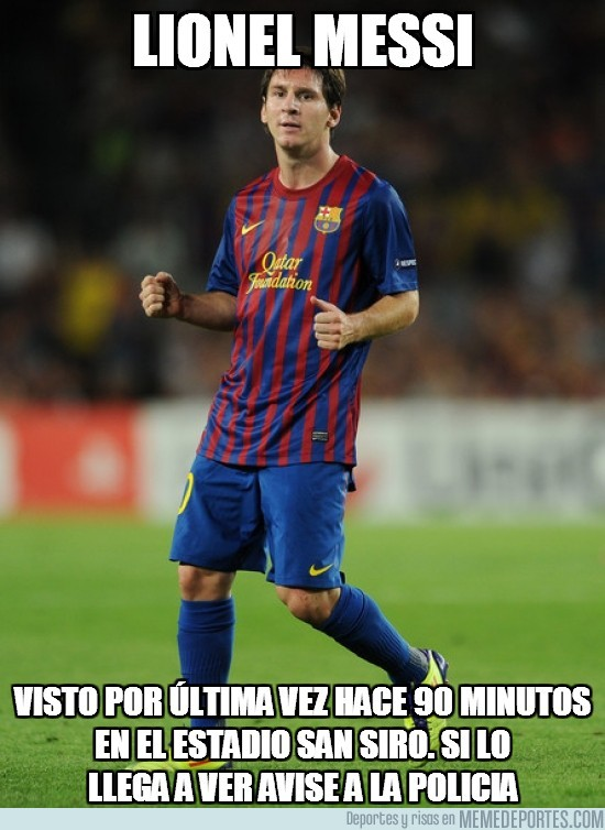 88129 - Lionel Messi, desaparecido en Champions