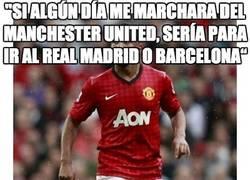 """Enlace a ''Si algún día me marchara del Manchester United, sería para ir al Real Madrid o Barcelona"""""""