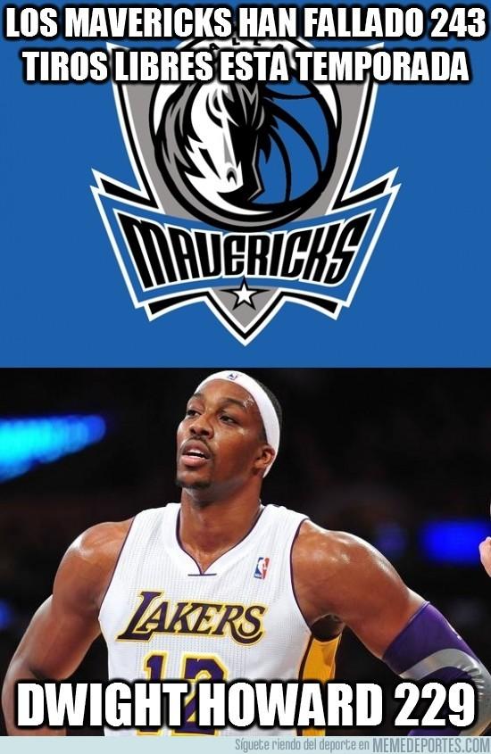 90277 - Los Mavericks han fallado 243 tiros libres esta temporada
