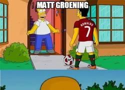 Enlace a Matt Groening y su fanatismo por los Ronaldos