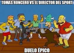 Enlace a Tomas Roncero vs el director del Sport