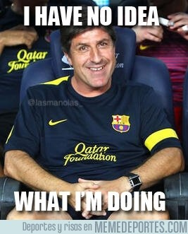 91333 - Jordi Roura con el Barça en sus manos