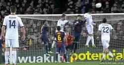 Enlace a GIF: Y con este gol de Varane, se acabó la Copa para el Barça