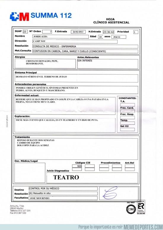 91660 - El Parte Médico de Jordi Alba