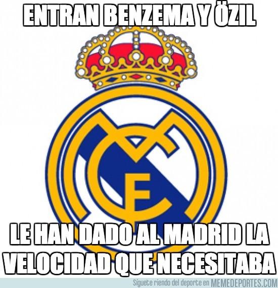 100838 - Entran Benzema y Özil, muy dados a meter velocidad al asunto