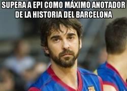 Enlace a Supera a Epi como máximo anotador de la historia del barcelona