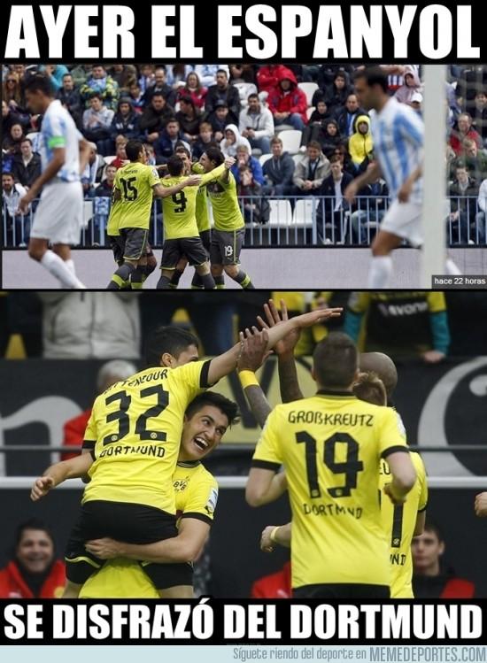 101756 - El Espanyol se disfrazó del próximo rival del Málaga para dar miedo
