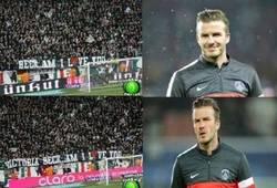 Enlace a Beckham siendo trolleado por la afición del P$G