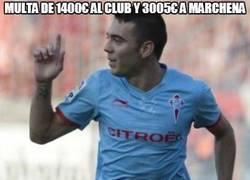Enlace a Multa de 1400€ al club y 3005€ a Marchena
