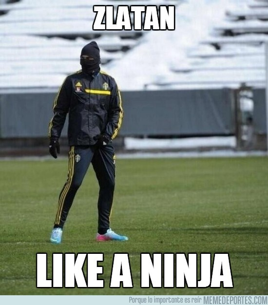 102781 - Zlatan like a ninja