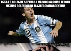 Enlace a Está a 3 goles de superar a Maradona como tercer máximo goleador de la selección argentina