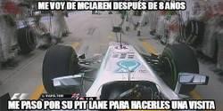 Enlace a Hamilton se mete en el box de McLaren