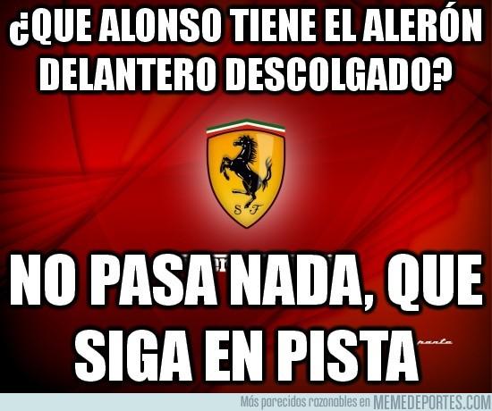 104413 - ¿Que Alonso tiene el alerón delantero descolgado?