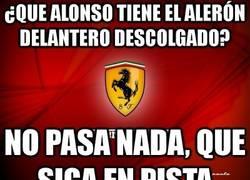 Enlace a ¿Que Alonso tiene el alerón delantero descolgado?