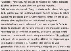 Enlace a La carta de Buffon a Totti por sus 20 años de carrera #GRANDES