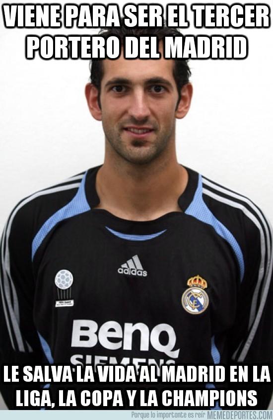 107694 - Viene para ser el tercer portero del Madrid