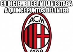 Enlace a En Diciembre el Milan estaba a quince puntos del Inter