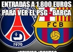 Enlace a Entradas a 1.800 euros para ver el PSG - Barça
