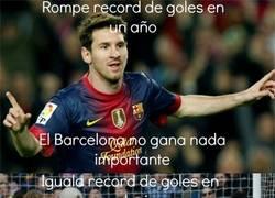 Enlace a Messi y los records que no sirven para nada