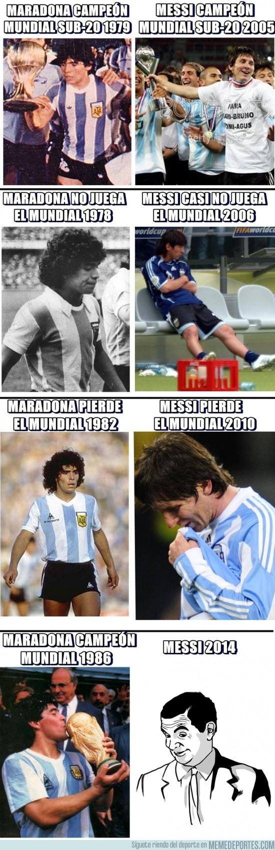 94632 - Similitudes entre Maradona y Messi