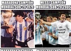 Enlace a Similitudes entre Maradona y Messi