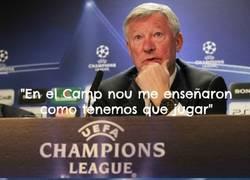 Enlace a Sir Alex en el Camp Nou
